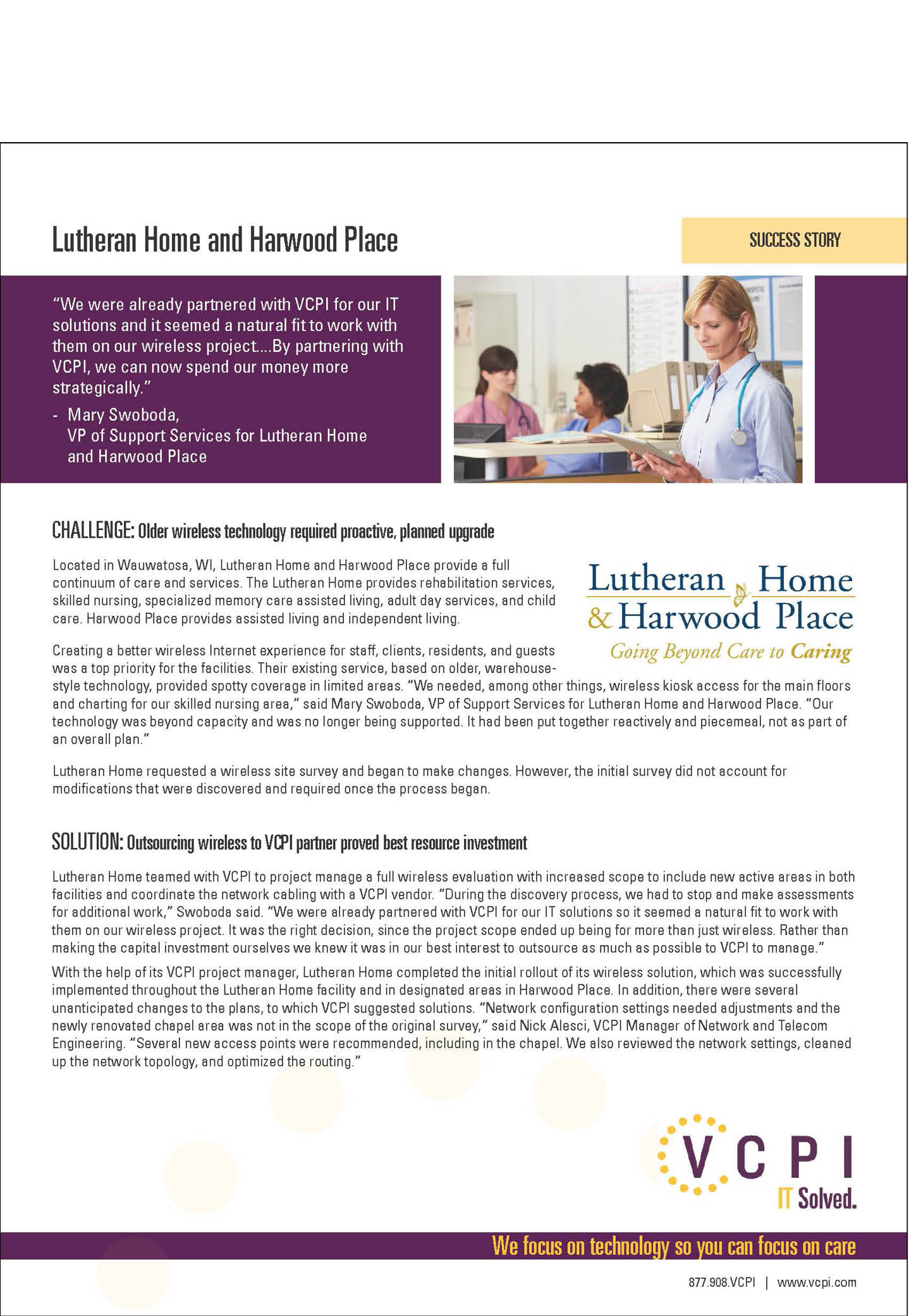 Lutheran Home and Harwood Place Wireless Success Story